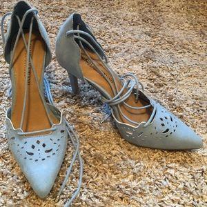 NWOT Lace Up Heels